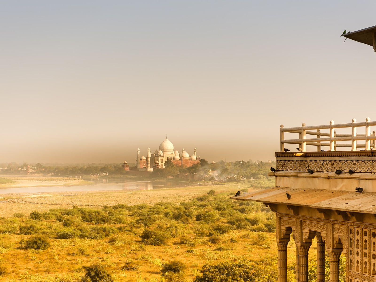 A view of Agra and Taj Mahal surroundings, Taj Mahal virtual tour
